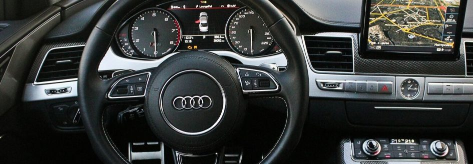 the interior of an Audi